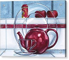 I'm A Little Teapot Acrylic Print by Jane Loveall