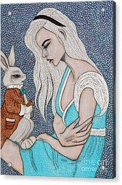 I'm Late Acrylic Print by Natalie Briney