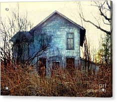 Acrylic Print featuring the photograph I'm Not Home Right Now, Please Leave A Message - Abandoned Farmhouse by Janine Riley