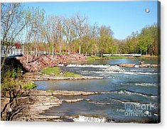 Image Included In Queen The Novel - Winooski River Rocks 21of74 Enhanced Acrylic Print