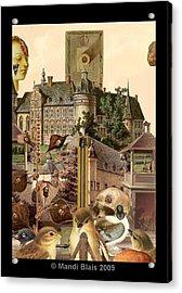 Imaginary Postcard  3 Acrylic Print by Mandi Blais