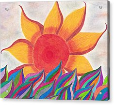 Imagination's Sun Acrylic Print by Laurie Gibson