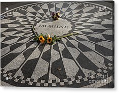 'imagine' John Lennon Acrylic Print
