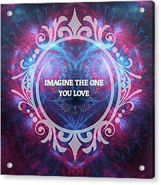 #imagine #love #heart #art #digitalart Acrylic Print by Michal Dunaj