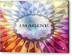 Imagine Sign Acrylic Print by Lutz Baar