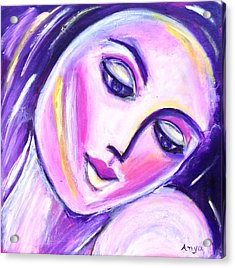Acrylic Print featuring the painting Imagine Tomorrow by Anya Heller