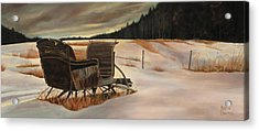 Imaginery Sleigh Ride Acrylic Print