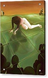 Imago The Watching Acrylic Print by Ari Rudenko