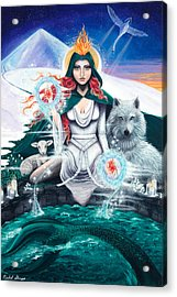 Imbolc/candlemas Acrylic Print by Nichol Skaggs