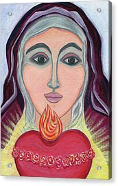 Immaculate Heart Of Mary Acrylic Print by Danielle Tayabas