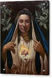 Immaculate Heart Acrylic Print by Timothy Jones