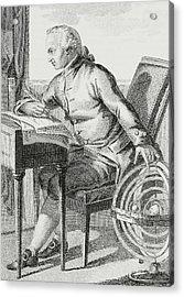 Immanuel Kant Acrylic Print by German School