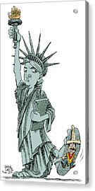Immigration And Liberty Acrylic Print