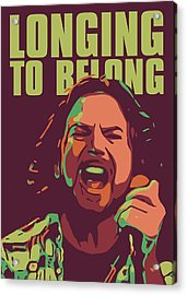 Eddie Vedder Acrylic Print by Greatom London