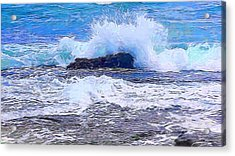Ocean Impact In Abstract 1 Acrylic Print