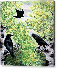 Imparting Wisdom Acrylic Print by Linda Marcille