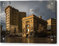 Imperial Bank Of Canada/confederation Building Acrylic Print by Bryan Scott