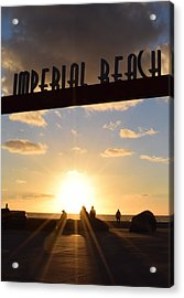 Imperial Beach At Sunset Acrylic Print by Karen J Shine