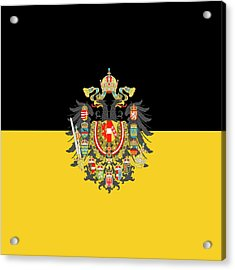 Habsburg Flag With Imperial Coat Of Arms 1 Acrylic Print