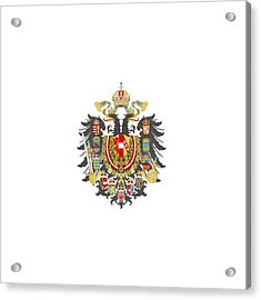 Imperial Coat Of Arms Of The Empire Of Austria-hungary Transparent Acrylic Print