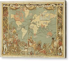 Imperial Map Acrylic Print