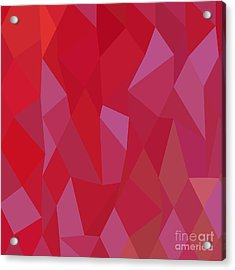 Imperial Purple Cadmium Red Abstract Low Polygon Background Acrylic Print by Aloysius Patrimonio