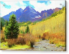 Acrylic Print featuring the photograph Impression, Maroon Bells by Eric Glaser