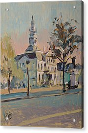 Impression Soleil Maastricht Acrylic Print