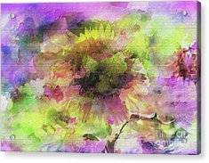 Impression Sunflower Acrylic Print