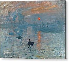 Impression Sunrise Acrylic Print by Claude Monet
