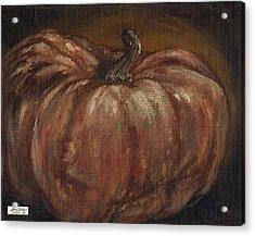 Impressionist Autumn Pumpkin Acrylic Print by Adam Zebediah Joseph