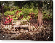 Acrylic Print featuring the photograph Impressionist Bench by James Barber