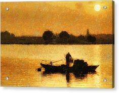 Impressionist Dawn Acrylic Print