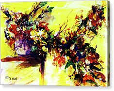 Impressionist Flowers #112, Acrylic Print by Donald k Hall