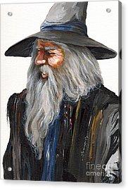 Impressionist Wizard Acrylic Print by J W Baker