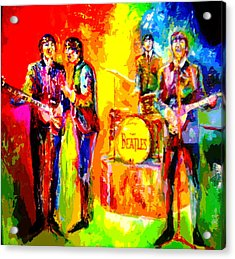 Impressionistc Beatles  Acrylic Print by Leland Castro