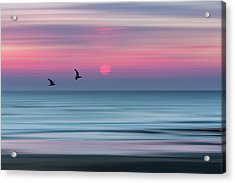 Impressionistic Sunset At Widemouth Bay, Bude, Cornwall, Uk.  Acrylic Print