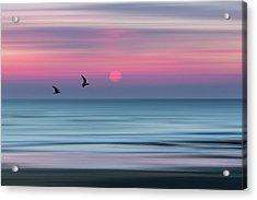 Impressionistic Sunset At Widemouth Bay, Bude, Cornwall, Uk.  Acrylic Print