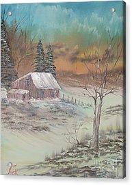 Impressions In Oil - 3 Acrylic Print by Bill Turck