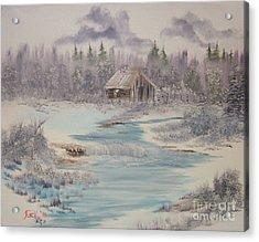 Impressions In Oil - 9 Acrylic Print by Bill Turck