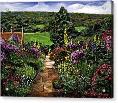 Impressions Of England Acrylic Print by David Lloyd Glover
