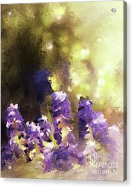 Acrylic Print featuring the digital art Impressions Of Muscari by Lois Bryan
