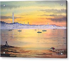 Acrylic Print featuring the painting Impressions Of Provincetown by Bill Holkham