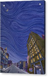 Acrylic Print featuring the painting Impressions Of Sedalia Nocturne by Scott Kirby