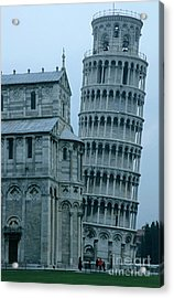 Impressive View Of The Cathedral Standing Alongside The Leaning Tower Of Pisa Acrylic Print by Sami Sarkis