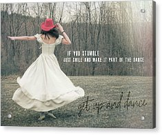 Improvise Quote Acrylic Print by JAMART Photography