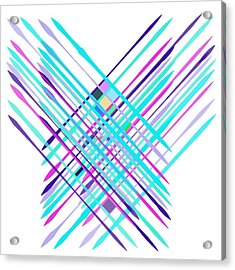 Acrylic Print featuring the digital art Improvised Geometry #2 by Bee-Bee Deigner