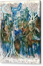 In A Blue Moon Acrylic Print by Julie Engelhardt