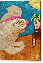 In A Carrot Field Acrylic Print by Elinor Rakowski