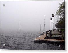 Acrylic Print featuring the photograph In A Fog In Newburyport by AnnaJanessa PhotoArt